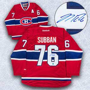 P.K. SUBBAN Montreal Canadiens SIGNED NHL Premier Hockey Jersey