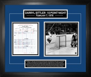 Darryl Sittler - Framed 10-Point Night 40th Anniversary Collage