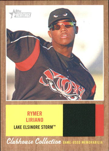 Photo of 2011 Topps Heritage Minors Clubhouse Collection Relics #RL Rymer Liriano