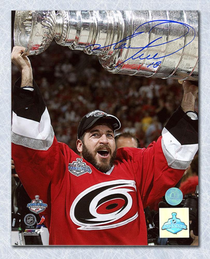 Mark Recchi Carolina Hurricanes Autographed Stanley Cup 8x10 Photo