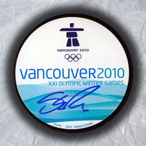 Shea Weber Vancouver 2010 Canada Autographed Olympic Winter Games Puck *Nashville Predators*
