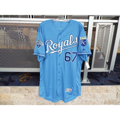 Photo of Game-Used Chien-Ming Wang Light Blue Jersey (Size 50) (5/4/16)
