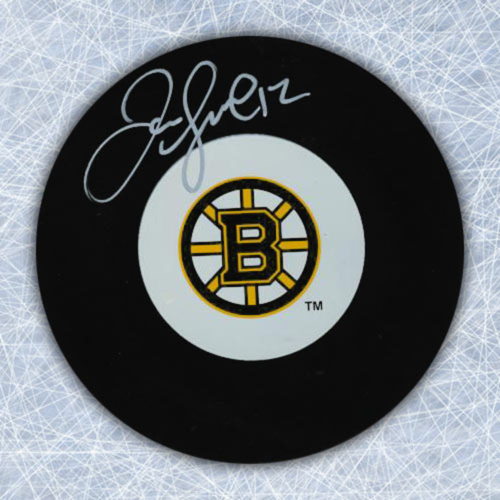 JAROME IGINLA Autographed Boston Bruins Hockey Puck