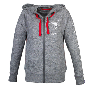 Women's Vintage Full Zip Hoody Dark Grey by Nike