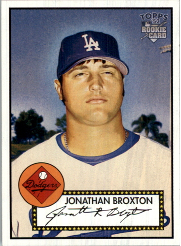 Photo of 2006 Topps 52 #217B Jonathan Broxton 52 Logo