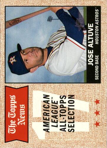 Photo of 2017 Topps Heritage #370 Jose Altuve  -- Astros post-season