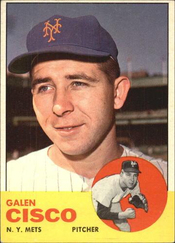 Photo of 1963 Topps #93 Galen Cisco