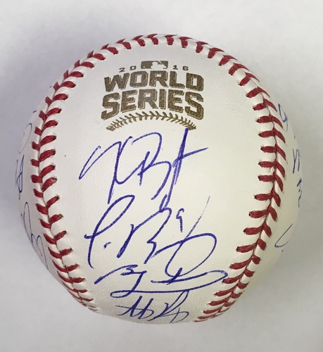 Photo of Chicago Cubs 2016 World Series Team Signed Baseball (20 Signatures)