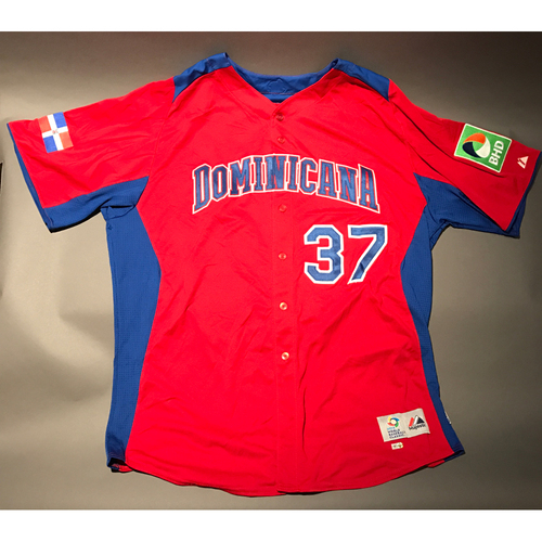 Photo of 2013 World Baseball Classic Jersey - Dominican Republic Road Jersey, Edinson Volquez #37