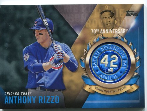 Photo of 2017 Topps Jackie Robinson Logo Patches #JRPCARI Anthony Rizzo