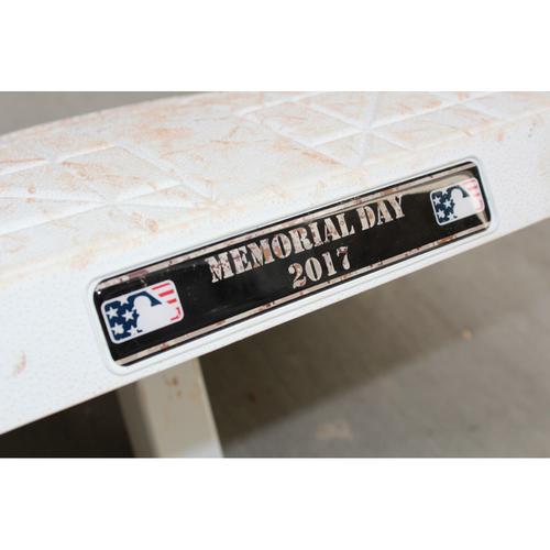 Photo of Game-Used Memorial Day 2nd Base Innings 6-9: Eric Hosmer RBI Home Run (5/29/17 DET @ KC)