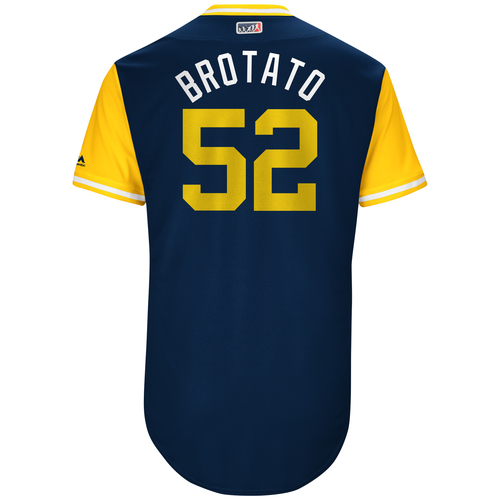 "Photo of Brad ""Brotato"" Hand San Diego Padres Game-Used Players Weekend Jersey"