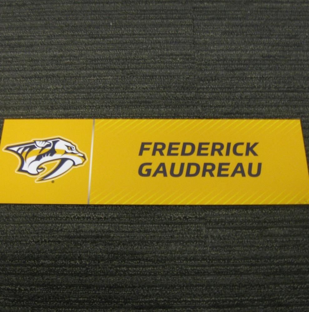 Frederick Gaudreau 2017 Stanley Cup Final Media Name Plate - Nashville Predators