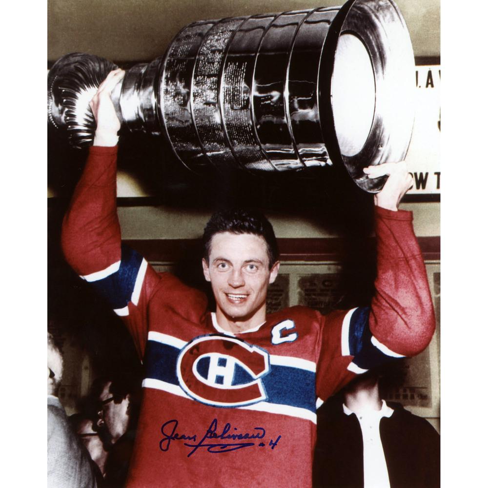 Jean Beliveau Montreal Canadiens Autographed 8