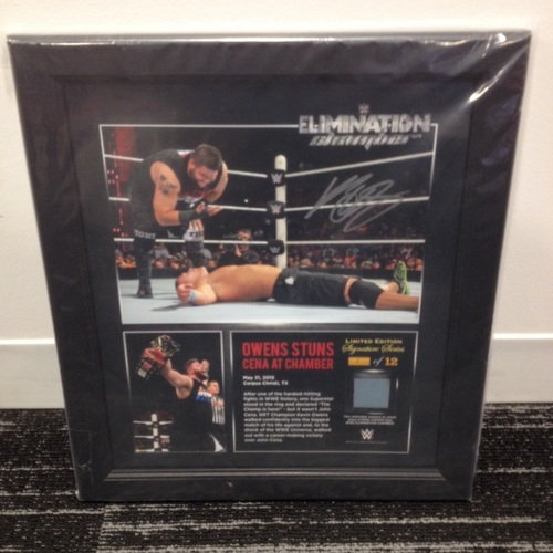 Photo of Kevin Owens SIGNED Elimination Chamber 2015 Limited Edition Framed Ring Canvas Photo Collage