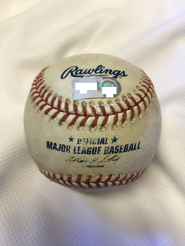 Photo of Game-Used Baseball from Giancarlo Stanton's 1st Career Home Run Game - June 18, 2010 at Sun Life Stadium