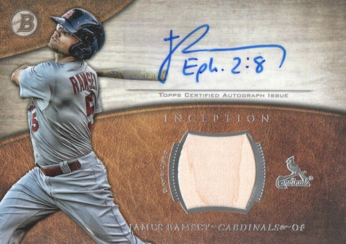 Photo of 2014 Bowman Inception Relic Autographs #ARJR James Ramsey