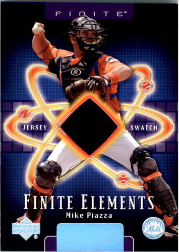 Photo of 2003 Upper Deck Finite Elements Game Jersey #MI Mike Piazza