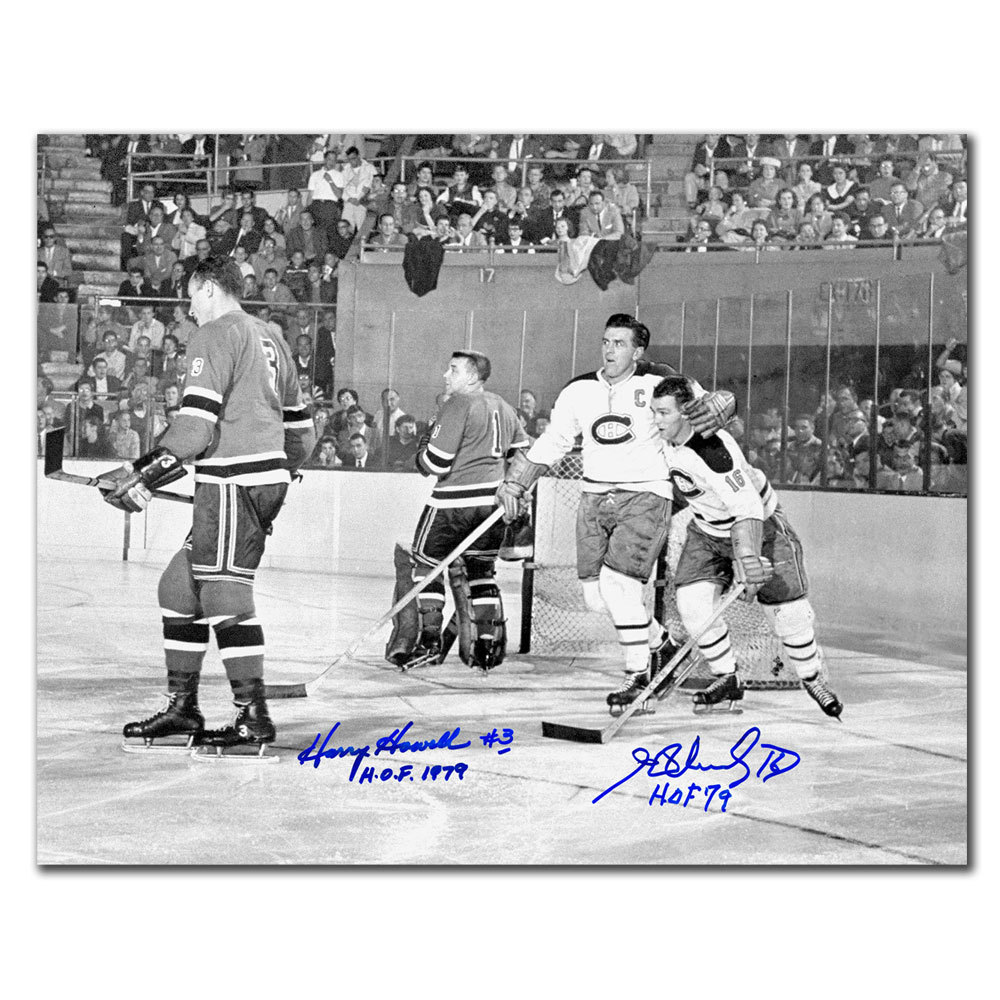 Henri Richard & Harry Howell Dual Autographed 11x14