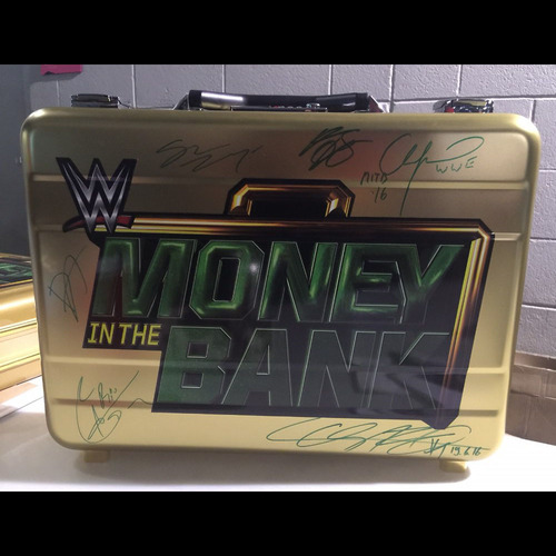 Photo of SIGNED Money In The Bank Replica Briefcase (Multiple Superstars - Money In The Bank 2016)