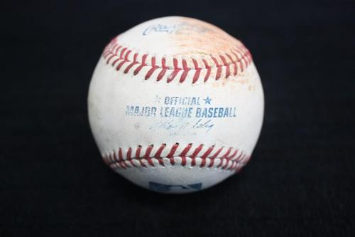 Photo of Game Used Baseball from Pirates vs. Reds on 6/19/14 - Locke to Votto, Double
