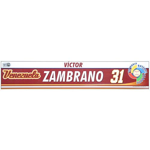 Photo of 2009 World Baseball Classic: Victor Zambrano (VEN) Game-Used Locker Name Plate