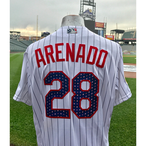 Colorado Rockies Nolan Arenado Game-Used Stars and Stripes Jersey