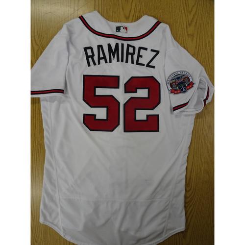 Photo of Jose Ramirez Game-Used Los Bravos Jersey - Worn 9/17/17 at SunTrust Park