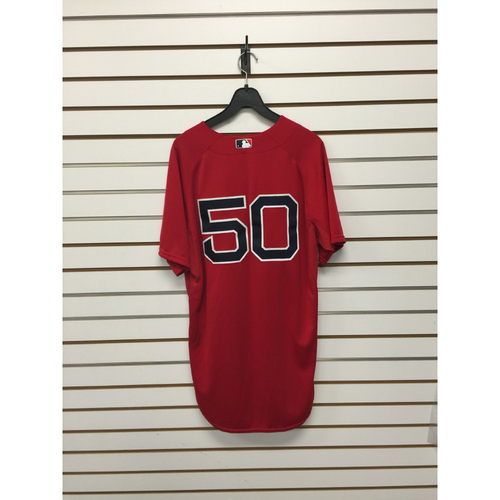 Photo of Mookie Betts Game-Used 2015 Home Alternate Jersey
