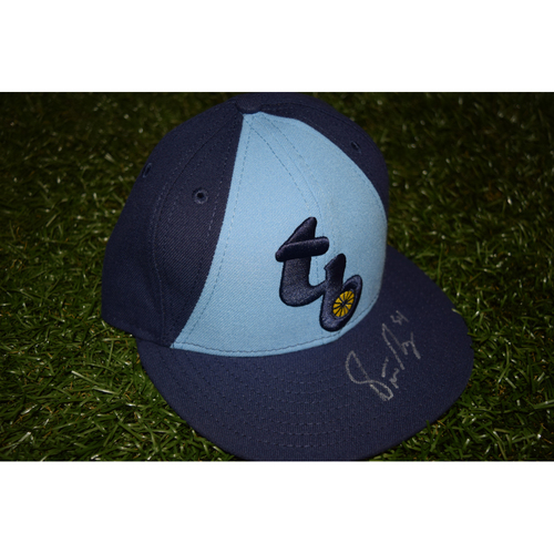 Photo of Game-Used Autographed Hat from Turn Back the Clock Night: Steve Geltz