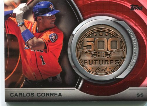 Photo of 2016 Topps Update 500 HR Futures Club Medallions Carlos Correa -- Astros post-season