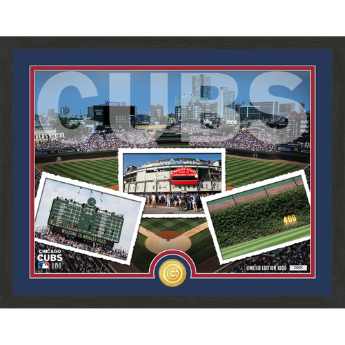 "Photo of Chicago Cubs ""Team Pride"" Bronze Coin Photo Mint - MLB.com Auctions Exclusive"