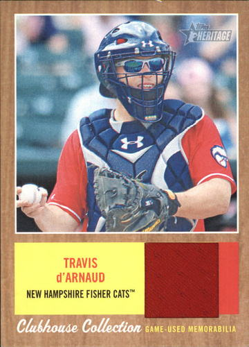 Photo of 2011 Topps Heritage Minors Clubhouse Collection Relics #TD Travis D'Arnaud