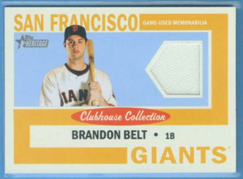 Photo of 2013 Topps Heritage Clubhouse Collection Relics #BBE Brandon Belt