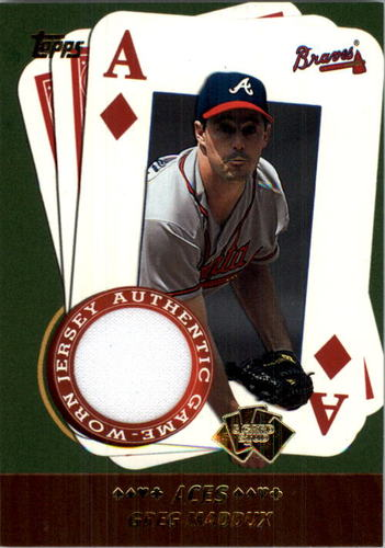 Photo of 2002 Topps 5-Card Stud Aces Relics #5AGM Greg Maddux Jsy