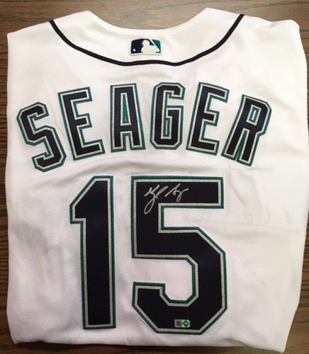 Photo of Kyle Seager Autographed Mariners Authentic Jersey