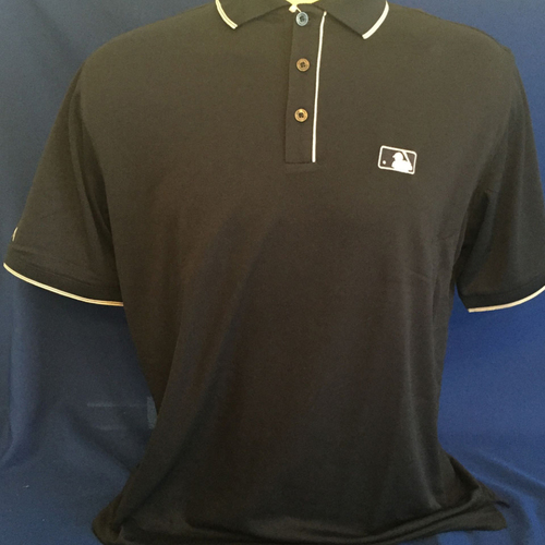 Photo of UMPS CARE AUCTION: MLB/UMPS CARE Logo Antigua Elite Polo Shirt, Navy with White Trim, Size L