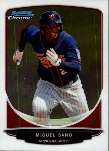 Photo of 2013 Bowman Chrome Draft Top Prospects #TP45 Miguel Sano Pre-Rookie Card