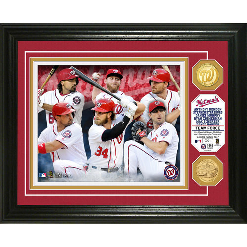 "Photo of Serial #1! Washington Nationals ""Team Force"" Bronze Coin Photo Mint"