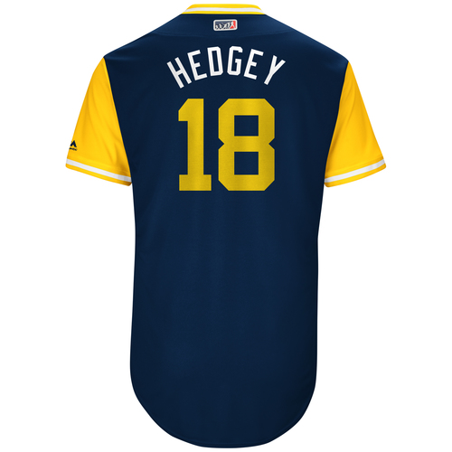 "Photo of Austin ""Hedgey"" Hedges San Diego Padres Game-Used Players Weekend Jersey"