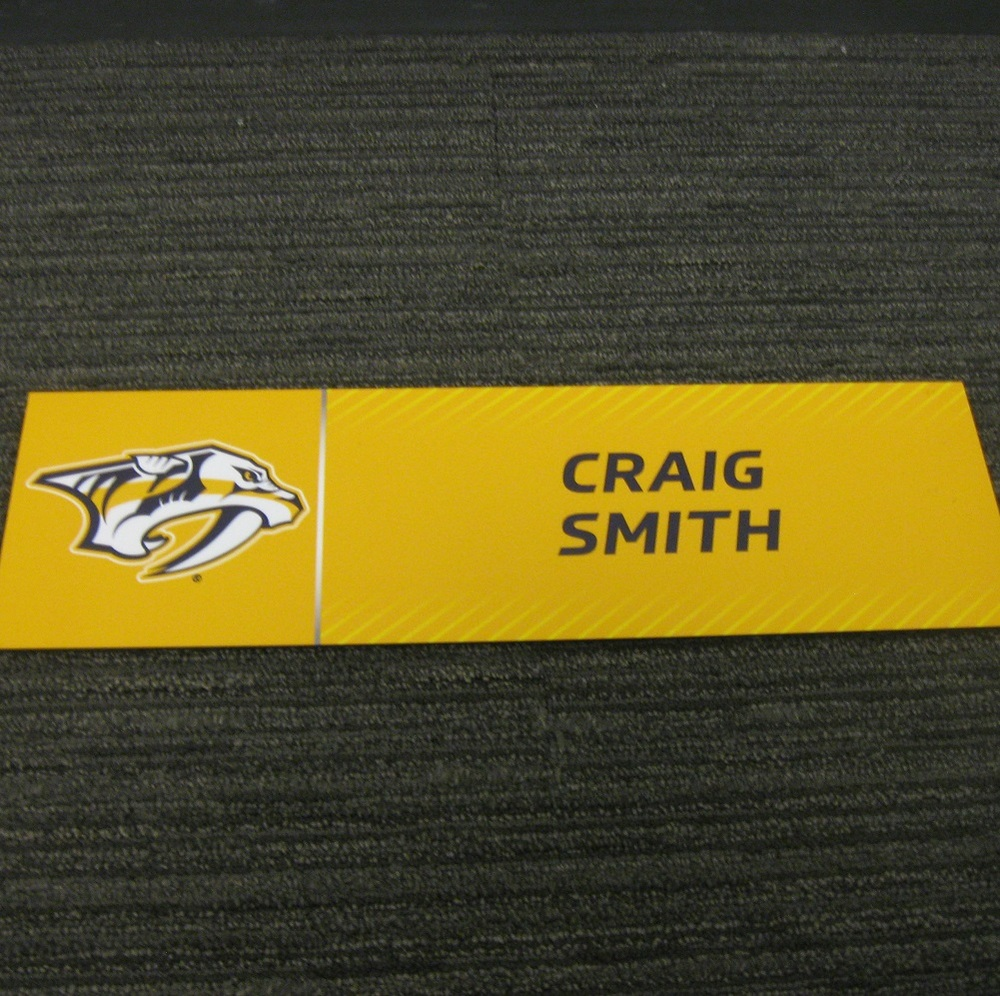 Craig Smith 2017 Stanley Cup Final Media Name Plate - Nashville Predators