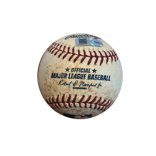 Photo of Game-Used Baseball from Pirates vs. Nationals on 7/24/15 - Solis to Polanco, RBI Single