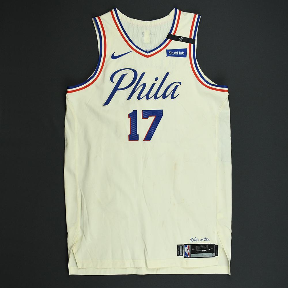 JJ Redick - Philadelphia 76ers - 2018 NBA Playoffs Game-Worn City Jersey - Game-High 27 Points