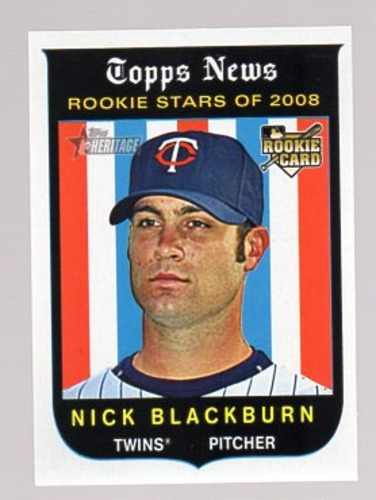 Photo of 2008 Topps Heritage #593 Nick Blackburn RC