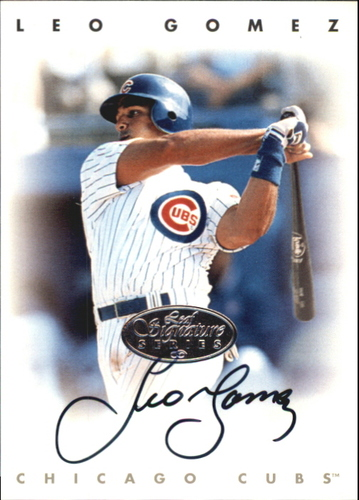 Photo of 1996 Leaf Signature Autographs Silver #81 Leo Gomez