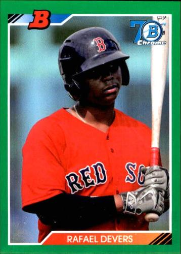 Photo of 2017 Bowman Chrome '92 Bowman Green Refractors #92BRD Rafael Devers RC 79/99