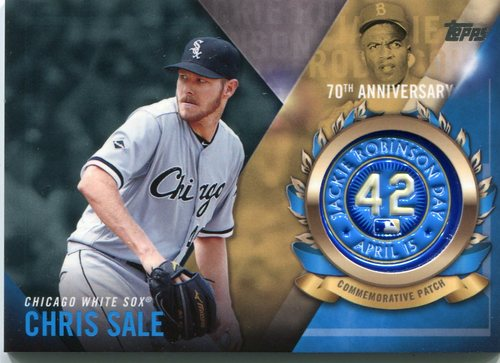 Photo of 2017 Topps Jackie Robinson Logo Patches #JRPCCSA Chris Sale