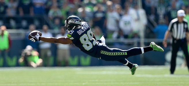 SEATTLE VS SAN FRANCISCO FOOTBALL GAME & MEET DOUG BALDWIN - SEC 326  - PACKAGE 3 ...