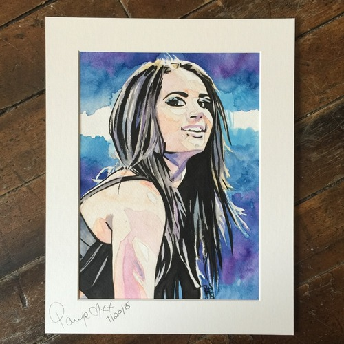Photo of Paige SIGNED Rob Schamberger Painting