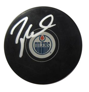 Taylor Hall - Signed Edmonton Oilers Autograph Series Puck